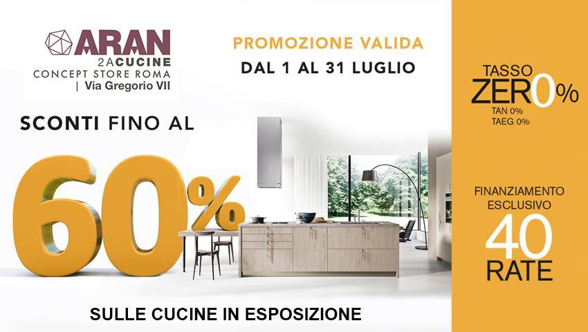 60% in meno sulle cucine in esposizione